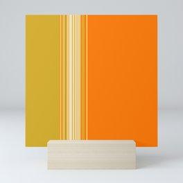 Retro Color Stripe Decor Mini Art Print