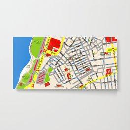 Tel Aviv Map - Neve Tsedek area Metal Print