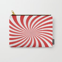 Red spiral rays Carry-All Pouch