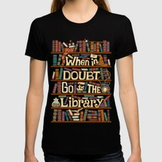 Go to the library Womens Fitted Tee LARGE Black