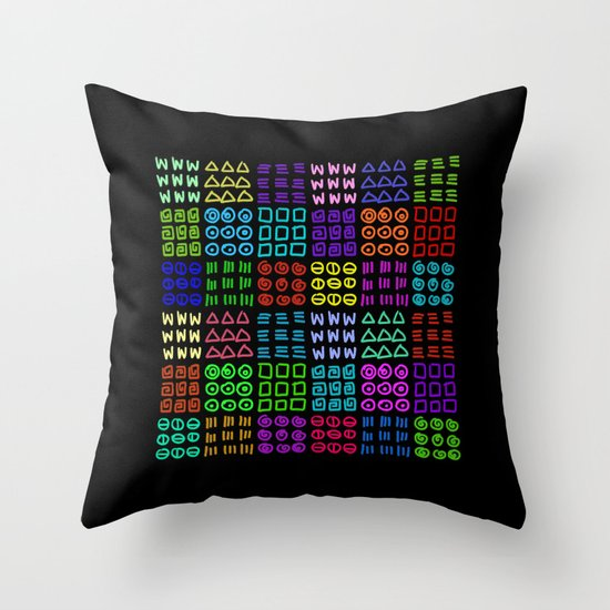 Aztec Wannabe (Black) Throw Pillow
