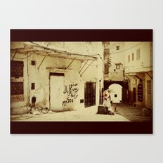 The last in the town Canvas Print