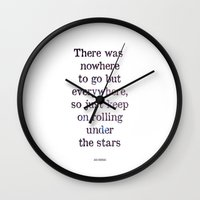 kerouac Wall Clocks featuring Jack Kerouac Quote by BlakesWorkshop