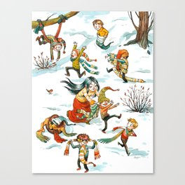 Snow White and the Seven Dwarfs Canvas Print