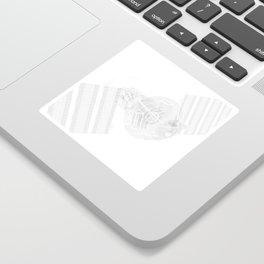 Explorer White and Grey Sticker