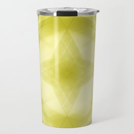 Vintage triangular strokes of intersecting sharp lines with canary triangles and a star. Travel Mug