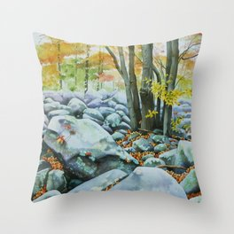 Ringing Rocks Throw Pillow