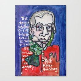 Justice Ruth Bader Ginsburg Canvas Print
