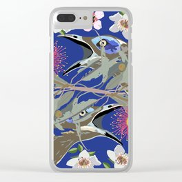 BlueFaced-HoneyEater-1-Blue-Deep Clear iPhone Case