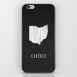 Ohio State Map Chalk Drawing iPhone Skin