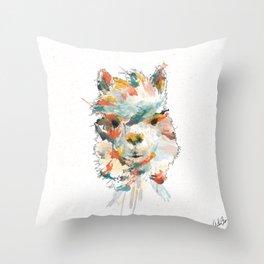 + Watercolor Alpaca + Throw Pillow