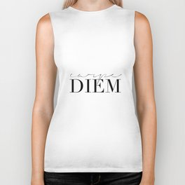 CARPE DIEM SIGN, Famous Quote,Seize The Day,Inspirational Quote,Motivational Quote,Office Decor,Home Biker Tank