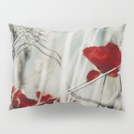 red spots - poppy blossoms in a field Pillow Sham