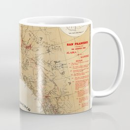 Map of Alaska 1898 Coffee Mug