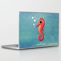 seahorse Laptop & iPad Skins featuring Seahorse by Anoosha Syed