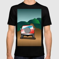 Exploring the countryside Black MEDIUM Mens Fitted Tee