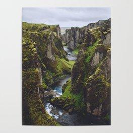 Icelandic Canyon Poster