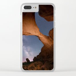 Double Arch in Arches National Park 2 Clear iPhone Case