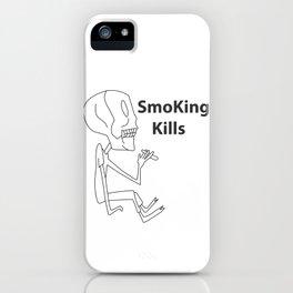 smoking kills iPhone Case