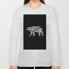 Bear Necessities in Black Long Sleeve T-shirt