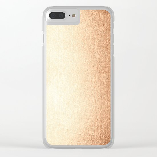 Simply Deep Bronze Amber Clear iPhone Case