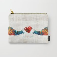 Snail Art - Love Grows Here - By Sharon Cummings Carry-All Pouch