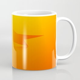 Star Flight Space Carrier - Red Orange Yellow Coffee Mug
