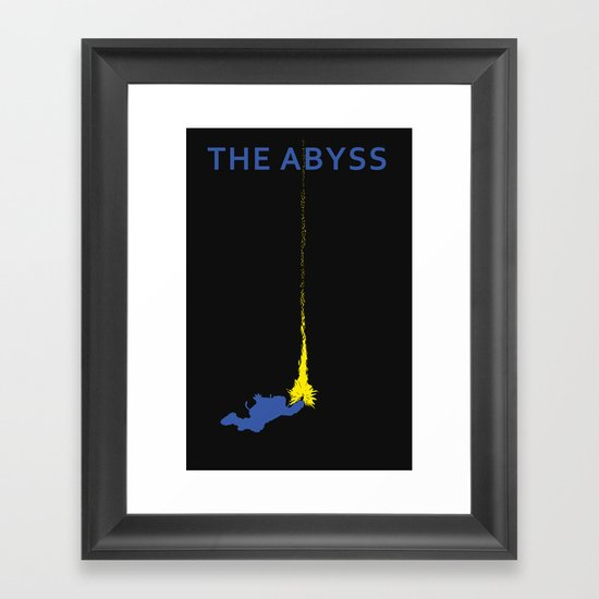 The Abyss Minimal Movie Poster (Not Alone) Framed Art Print