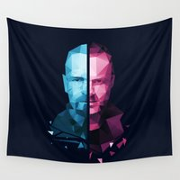 jesse pinkman Wall Tapestries featuring BREAKING BAD - White/Pinkman by Dr.Söd