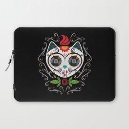 Sugarskull Cat Laptop Sleeve