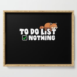 To Do List Nothing Funny And Cute Sloth Serving Tray