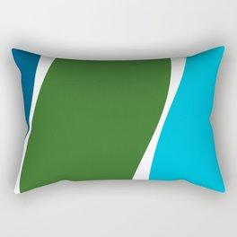 Turquoise Basil Cerulean Waves Rectangular Pillow