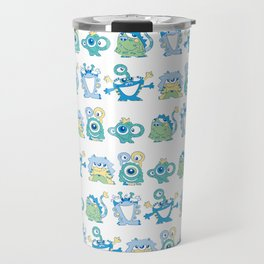 Lil Monsters Pattern Travel Mug
