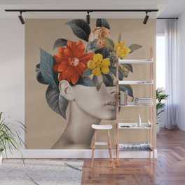 woman with flowers 8 Wall Mural