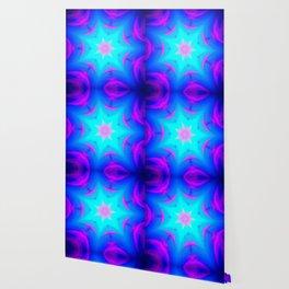 pink & blue starburst Wallpaper