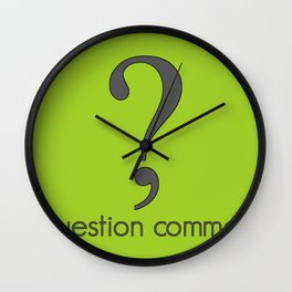 Question Comma Wall Clock