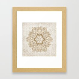Mandala Temptation in Cream Framed Art Print