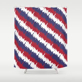 Red White And Blue Shower Curtain. NY USA Candy Cane Skyline in Red White  Blue Shower Curtain Liberty Curtains Society6