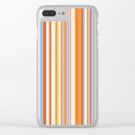 Stripe obsession color mode #4 Clear iPhone Case