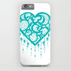Heart-Catcher Teal iPhone 6s Slim Case