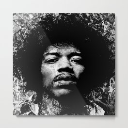HENDRIX (BLACK & WHITE VERSION) Metal Print