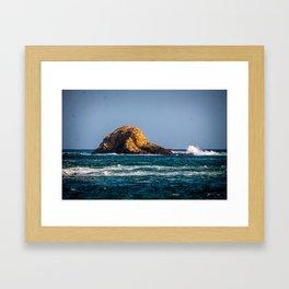 Rocky Landscape at the Sea Framed Art Print