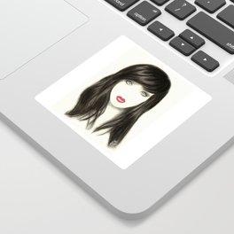Girl on fire Sticker