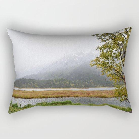 Season's First Snow II Rectangular Pillow