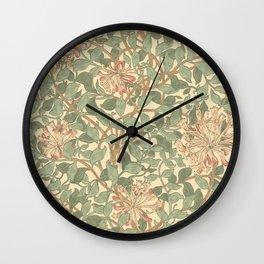 William Morris Honeysuckle Design Wall Clock