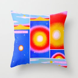 Feelings Rise, and Subside Throw Pillow