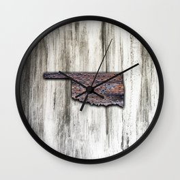 Oklahoma Rivets Wall Clock