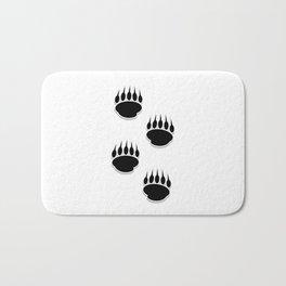 Black Bear Paw Prints Bath Mat