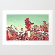robot man Art Print