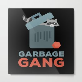 Garbage Gang Raccoon Panda Metal Print
